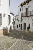 Street in white Andalusian town Stock Images
