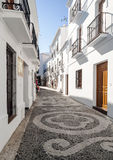 Street with shop in Frigiliana Stock Images
