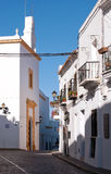 Street with white houses, Spain Royalty Free Stock Photography
