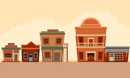 Street Wild West. Flat design. Vector illustration vector illustration
