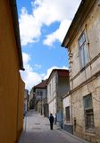 Street of the Wind the second narrowest street in Romania Stock Photography