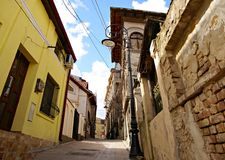 Street of the Wind the second narrowest street in Romania Royalty Free Stock Image