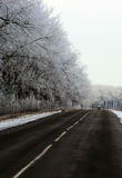 A street in winter. Scenic in Ukraine stock photography