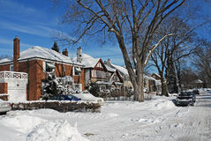 Street in winter Stock Photo