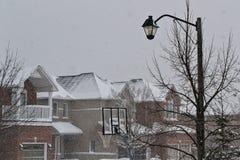 Street. A wintery street scene with net Stock Image