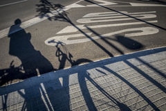 Free Street With Traffic Sign And Bicycle Shadow In Sant Cugat Del Va Stock Images - 77901914
