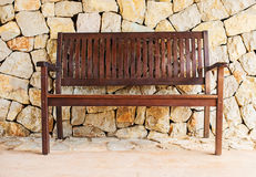 Street wooden bench. Stock Images