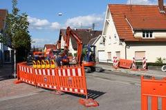 Street work sandweier baden-baden construction. Street work in sandweier baden-baden village place construction Royalty Free Stock Photo