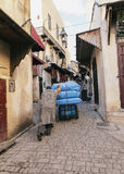 Street worker in fez medina Stock Photography
