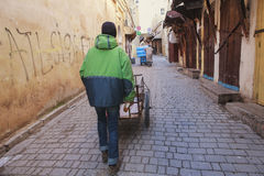 Street worker in fez medina Royalty Free Stock Image