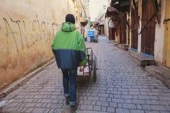 Street worker in fez medina Royalty Free Stock Image