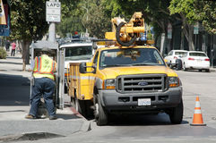 Street workers Stock Image