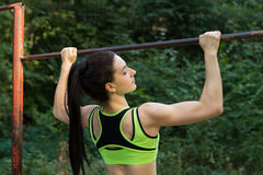 A street workout girl Stock Image