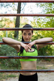 A street workout girl Stock Images