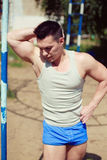 Street workout lifestyle, sportsman Royalty Free Stock Images