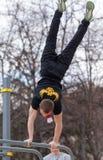 Street workout man Royalty Free Stock Image