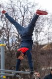 Street workout place Royalty Free Stock Photo