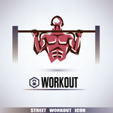 Street workout symbol Royalty Free Stock Photography