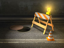 Street works Royalty Free Stock Images