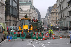 Street works Royalty Free Stock Photo