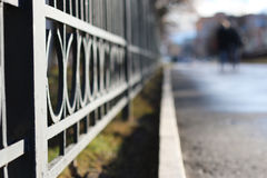 Street wrought fence Royalty Free Stock Photo