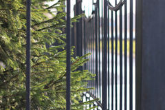 Street wrought fence Royalty Free Stock Photos