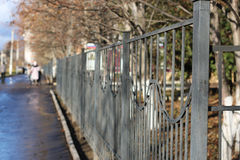 Street wrought fence Royalty Free Stock Photography