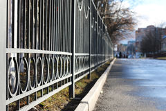 Street wrought fence Stock Image
