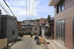 Street of wuyu island Stock Photo