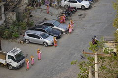 Street in Yangon, Myanmar Royalty Free Stock Photos