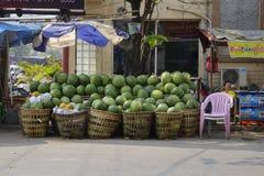 Street in Yangon, Myanmar Royalty Free Stock Image