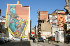 Street From Yeldegirmeni, Kadikoy, Istanbuş, Turkey Royalty Free Stock Image