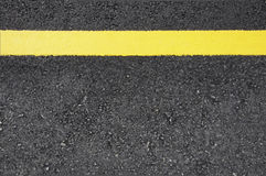 Street with Yellow line Royalty Free Stock Photography