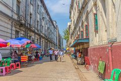 Street in Yngoon Royalty Free Stock Images