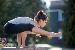 Street yoga: Firefly asana Royalty Free Stock Image