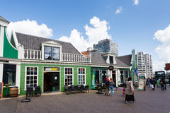 Street of Zaandam, Netherlands Stock Photos