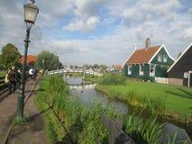 Zaanse Schans. The street, Zaanse Schans, Holland royalty free stock photos