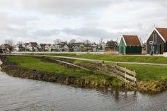 Street in Zaanstad village, The Netherlands