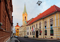 Street in Zagreb Royalty Free Stock Images