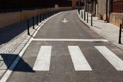 Street zebra crossing Royalty Free Stock Photography