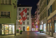 Street in Zurich Royalty Free Stock Photo