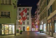 Street in Zurich Royalty Free Stock Photo
