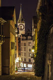 Street in Zurich in evening Stock Photo