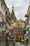 Street in Zurich Royalty Free Stock Images