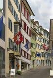 Street in Zurich Royalty Free Stock Photos