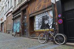 Streetart在布鲁塞尔,比利时 免版税库存图片