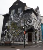 Streetart,黑白 免版税图库摄影
