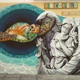 Streetart à Malaga Photographie stock