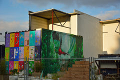 Streetart, Beautiful paintings on a container Stock Photo