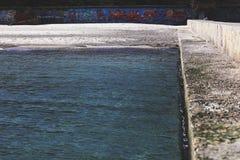 Streetart in de kust van het strand royalty-vrije stock afbeeldingen